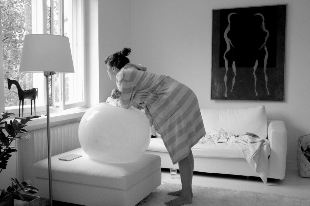 odottaja synnyttäjä pallo
