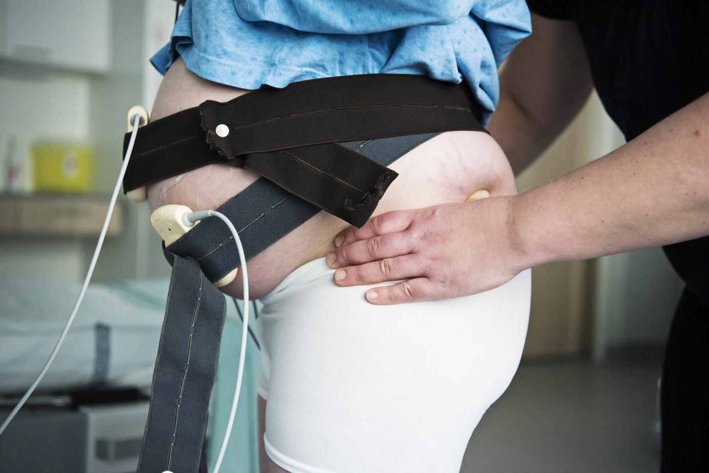 doula Marjaana sairaalassa lantion painaminen pieni