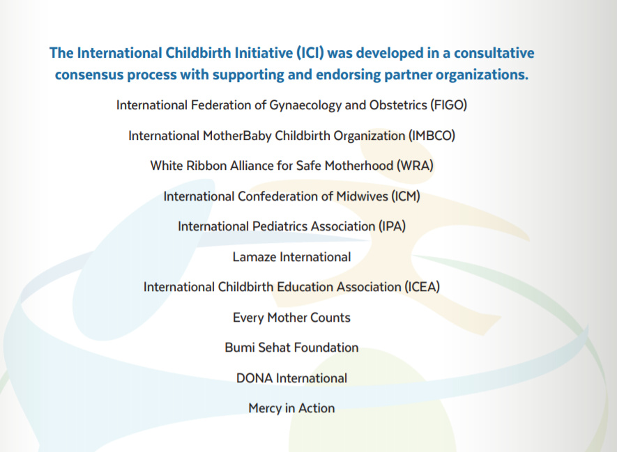 International childbirth initiative (ICI)