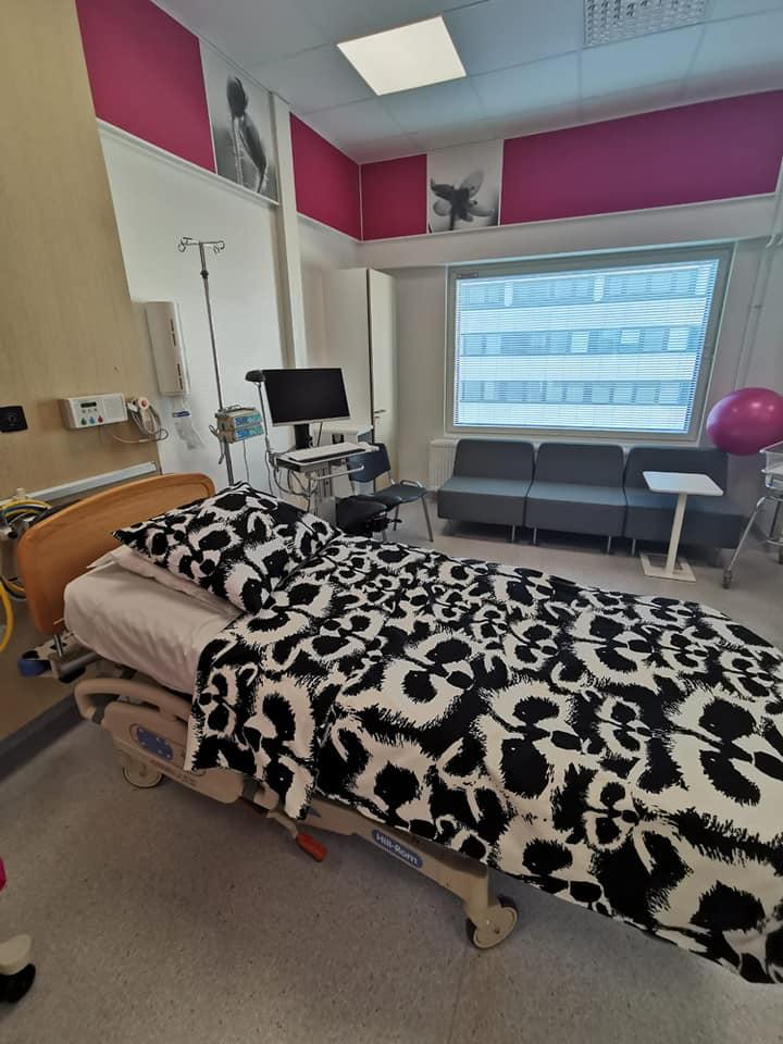 TAYS:in uuden synnytyshuoneen ilme on aikaisempaa kodinomaisempi
