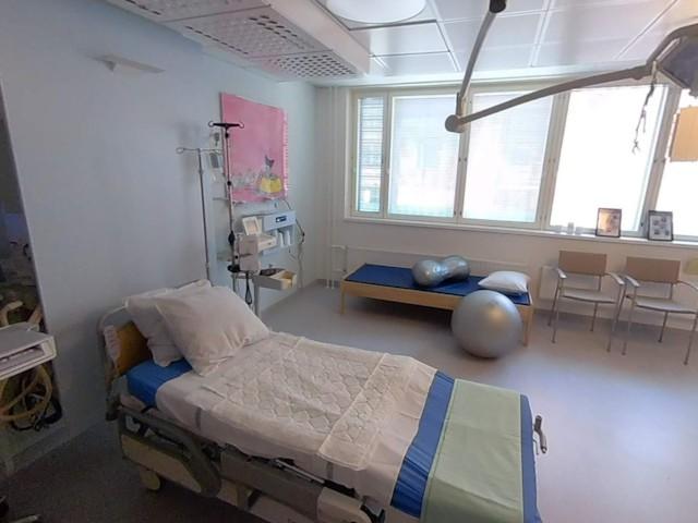 Naistenklinikan 360 synnytyssali ja ammehuone